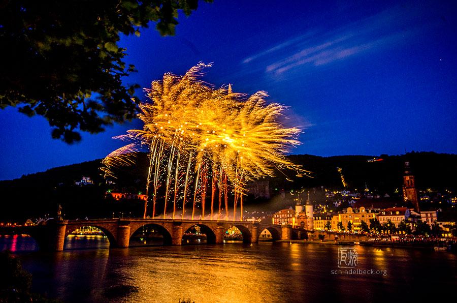 Heidelberg Feuerwerk - Heidelberg Schlossbeleuchtung